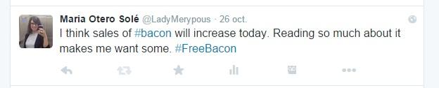 #FreeBacon   Maria en la red