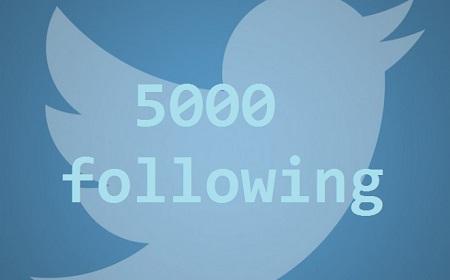 5000 following | Maria en la red