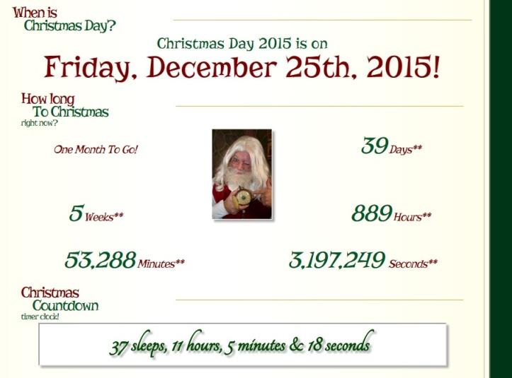 email santa countdown