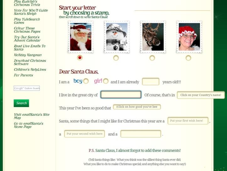 email santa email