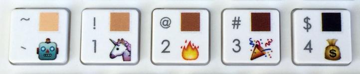 Emoji Keyboard skintone | Maria in the net