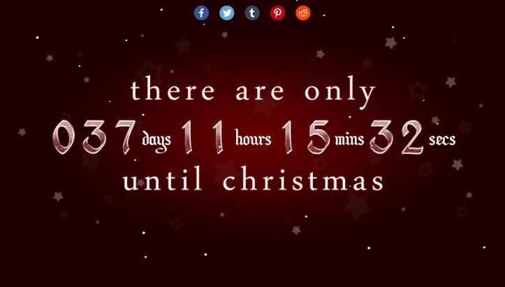 xmas clock - How Many Days Till Christmas Eve