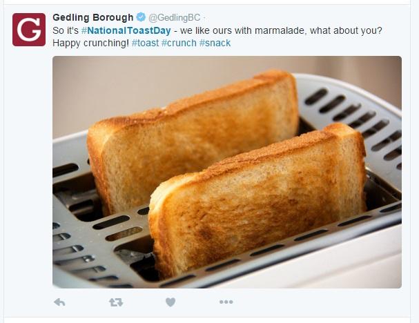 toast gedling