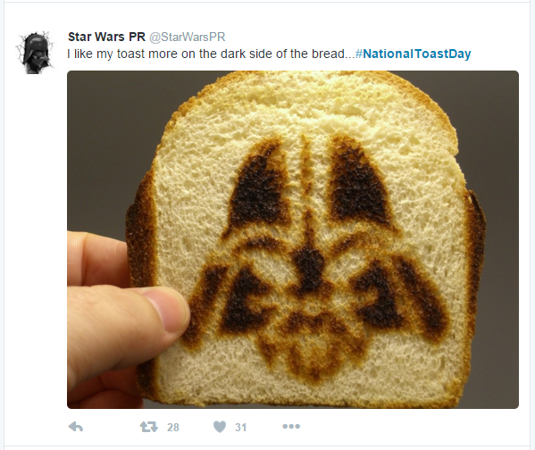 toast star wars